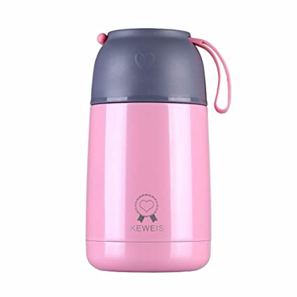 Keweis Vacuum Insulated Food Jar 21oz Stainless Steel Thermos Flask With A  Disposable Folding Spoon (