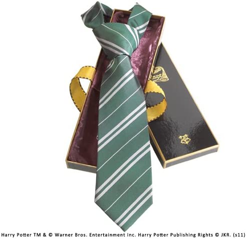 The Noble Collection¬Slytherin 100% Seda Corbata en la Caja de ...