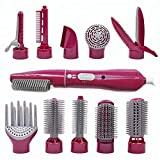 10 in 1 Multifunctional Hot Hair Dryer Tool and Professional Hair Dryers Electric Hair Straightening Brush Interchangeable Detachable Rotating Hot Air Brush
