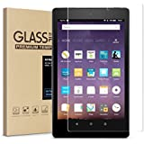 Fire HD 8 Screen Protector,Tempered Glass Screen Protector for All New Fire HD 8/kids edition Tablet (2017 Release)