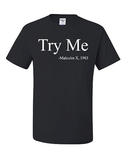 896a568a Malcolm X 1963 T-Shirt Civil Rights Movement Equality Tee Shirt Black