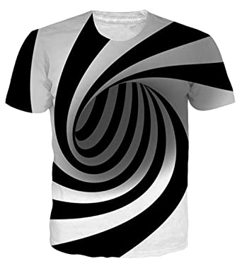 3f69e89938afe UNIFACO Geometric Black White Swirl Shirt Short Sleeve Casual Summer Small.  Roll over image to ...