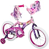 "16"" Steel-Framed Disney Princess Bike with Adjustable Training Wheels Padded Seat Jewel Accessories and Heart-Shaped Storage Case"