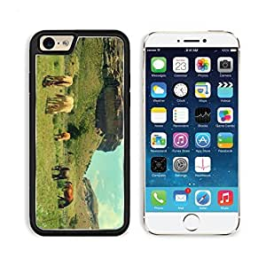 Horses On The Meadow Grazing Mountains 3DCom iPhone 6 Cover Premium Aluminium Design TPU Case Open Ports Customized Made to Order