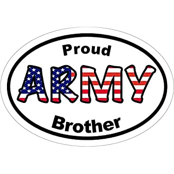 Army decal american flag proud army brother army vinyl sticker army bumper sticker