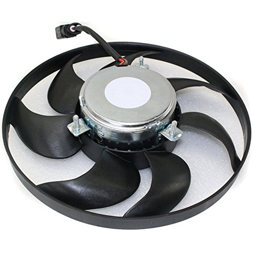 - A/C Condenser Fan Assembly compatible with Volkswagen Jetta 06-16 RH 200w - 295mm Diameter - 2-Pin