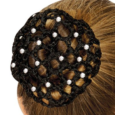 hip girl boutique ballet dance gymnastic skating bun cover rhinestone