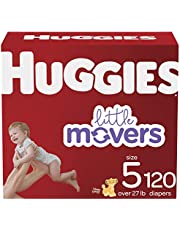 Diapers Size 5 - Huggies Little Movers Disposable Baby Diapers, 120ct, One Month Supply