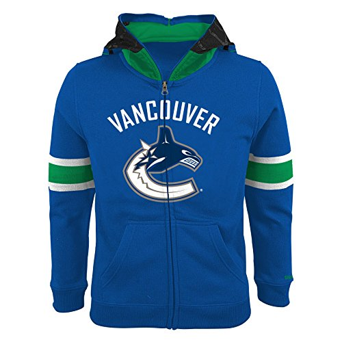 Reebok & CCM Vancouver Canucks Youth NHL Goalie Mask Full Zip Hoodie - (Ccm Hockey Goalie)