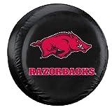 Arkansas Razorbacks Black Tire Cover - Standard Size