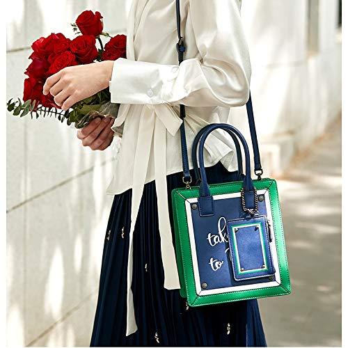 Lettera Elegante Portatile Versione della A Borsa Moda Pelle Colore Elegante Marea in Mini Borsa di Coreana Borse Corrispondenza Mobile qzEzctyZ