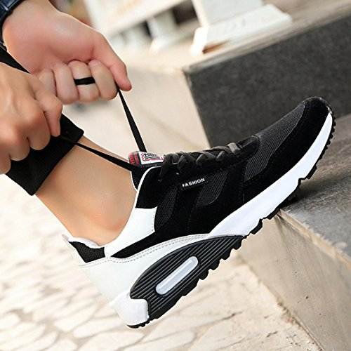 Bovake Casual Sneakers Shoes, Men's Hundred Leisure Travel Sneakers Casual Fashion Low Ankle Lace-up Sport Shoes - Gym Running Jogging Trainers Fitness Lightweight Shoes White