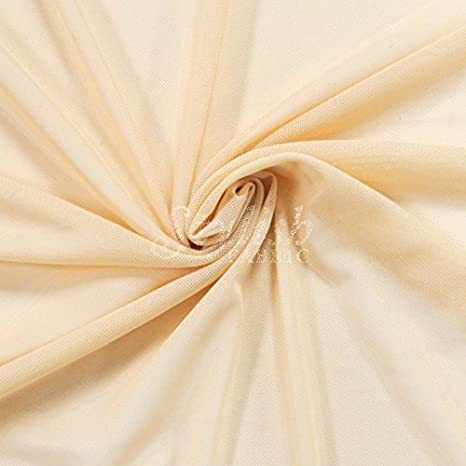 Nude Power Mesh Fabric by the Yard
