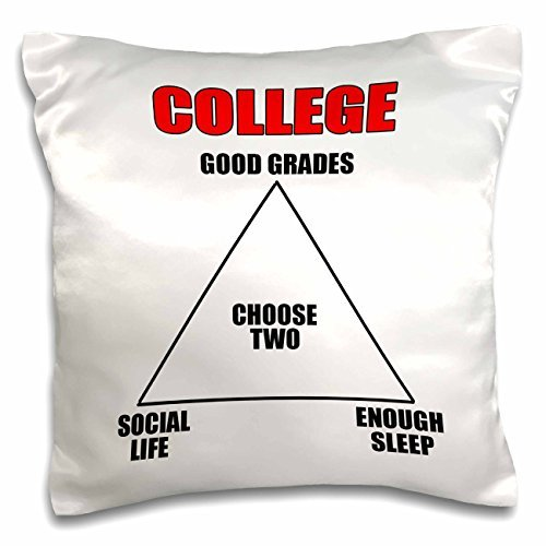onepicebest Throw Pillow Covers with Words for Sofa Couch-Funny Quotes - College choose two, Red - 18x18 inch Pillow Case