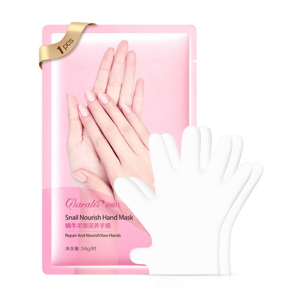 Anself Hand Mask Whitening Moisturizing Gloves Anti Wrinkle Smoothing Hand Wax Mask