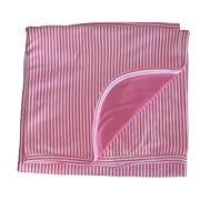 Kissy Kissy Baby Essentials Striped Receiving Blanket-Fuchsia-One Size