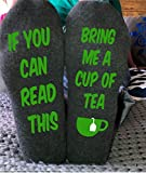 Bring Me Tea Unisex Socks Funny Sayings If You Can Read This