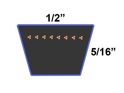 Rubber D/&D PowerDrive 16R1980 Metric Standard Replacement Belt 1