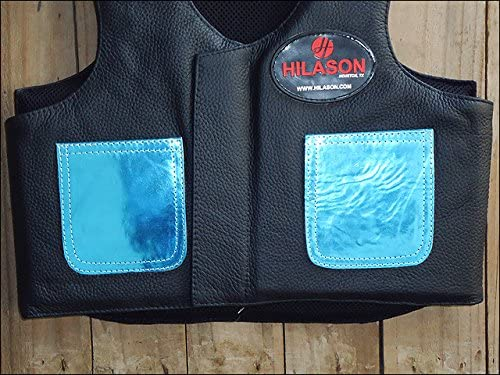 HILASON Kids Junior Youth Horse Riding Pro Rodeo Leather Protective Vest