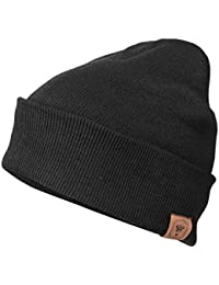 Winter Daily Beanie Stocking Hat - Warm Polar Fleece Skull Cap for Men and Women Purple/Gray/Black