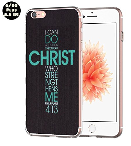 Iphone 6S plus case christian, Apple Iphone 6 plus case I can do all things through christ who strengthens me philippians 4:13 bible quotes