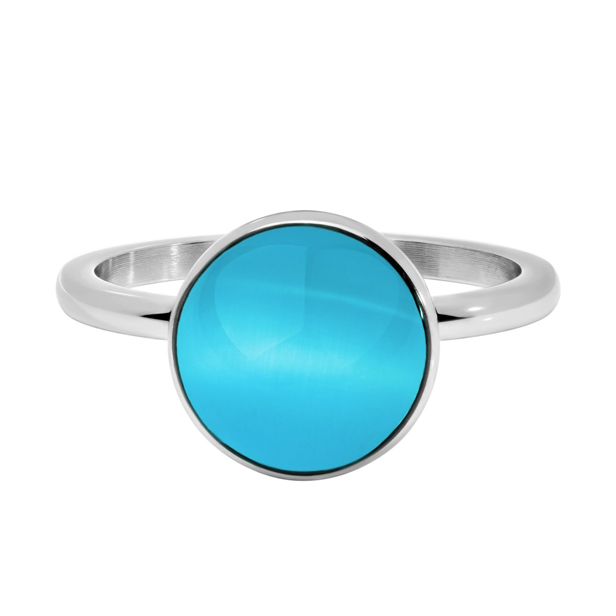 Quiges Stainless Steel Blue Sand Stardust Sparkle Glitter Inner Ring 2mm Height for Stackable Ring