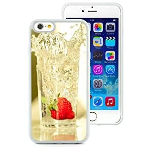 NEW Unique Custom Designed iPhone 6 4.7 Inch TPU Phone Case With Strawberry Falling In Glass Of Water_White Phone Case