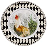 Enamelware - Rooster Royale Pattern - 12.5 Inch Charger Plate