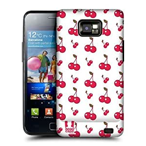 AIYAYA Samsung Case Designs Cherries Fruit Patterns Protective Snap-on Hard Back Case Cover for Samsung Galaxy S2 II I9100