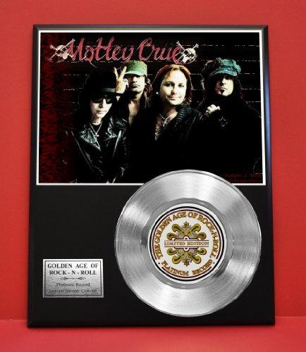 Motley Crue Limited Edition Platinum Record Display - Music Memorabilia Wallart - from Gold Record Outlet