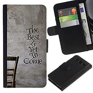 UNIQCASE - Samsung Galaxy S3 III I9300 - The Best Is Yet To Come - Cuero PU Delgado caso cubierta Shell Armor Funda Case Cover