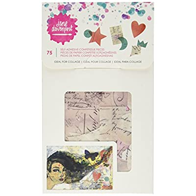 American Crafts Self-Adhesive Die-Cut Paper Jane Davenport Mixed Media 2 Confettissue 75/Pkg: Arts, Crafts & Sewing