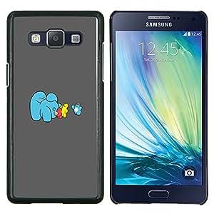 Hielo divertido Cream Machine- Metal de aluminio y de plástico duro Caja del teléfono - Negro - Samsung Galaxy A5 / SM-A500