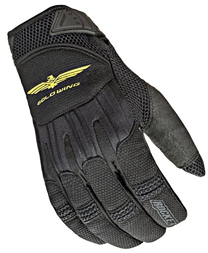 Motorcycle Honda Gloves - Joe Rocket Goldwing Skyline Men's Motorcycle Riding Gloves (Black/Black, Large)