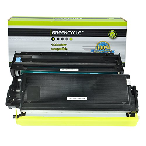 GREENCYCLE (1 Drum + 1 Toner) Replacement Toner Cartridges & Drum for Brother TN570 TN540 DR510 DR-510 TN-570 TN-540 Set DCP-8040 DCP-8040D DCP-8045D