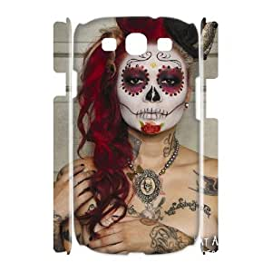 D-PAFD Sugar Skull Customized Hard 3D Case For Samsung Galaxy S3 I9300