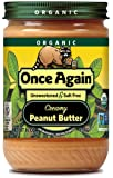 Once Again Organic Peanut Butter Creamy No Salt -- 16 oz - 2 pc