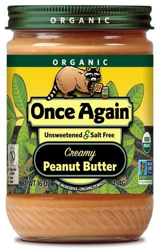 Once Again Organic Peanut Butter Creamy No Salt -- 16 oz - 2 pc