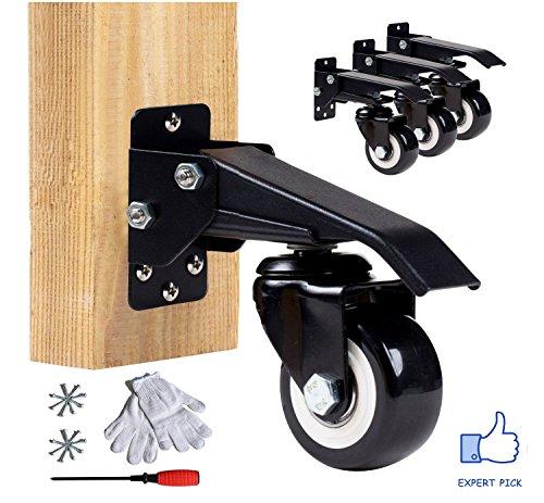 4 Set Caster (EASYTECH Workbech Stepdown Caster Kit, Set of 4)