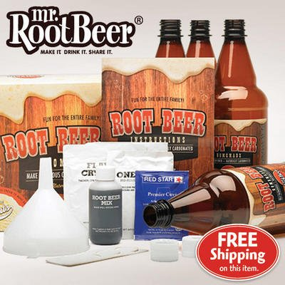 Mr. Root Beer 20041 Home Root-Beer-Making Kit +FREE Refill Kit Value PACK!!!