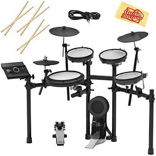 - Roland TD-17KV Electronic Drum Set Bundle with 3 Pairs of Sticks, Audio Cable, and Austin Bazaar Polishing Cloth