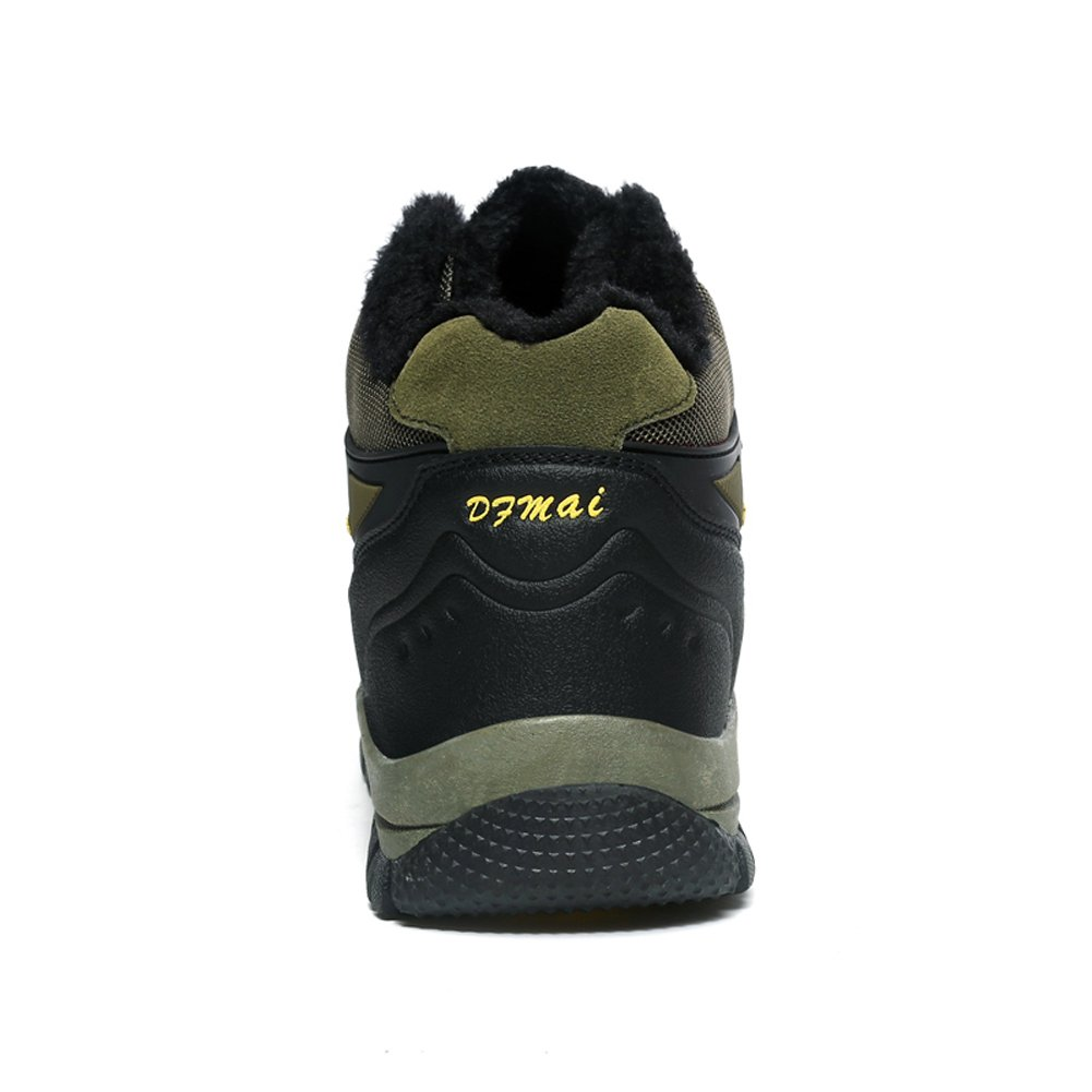 GOMNEAR Hiking Boots Trekking Shoes Men Fur Non Slip Fur Men Lined Suede Winter Warm Climbing Sneaker B075MWYXTP Boots be1fc2