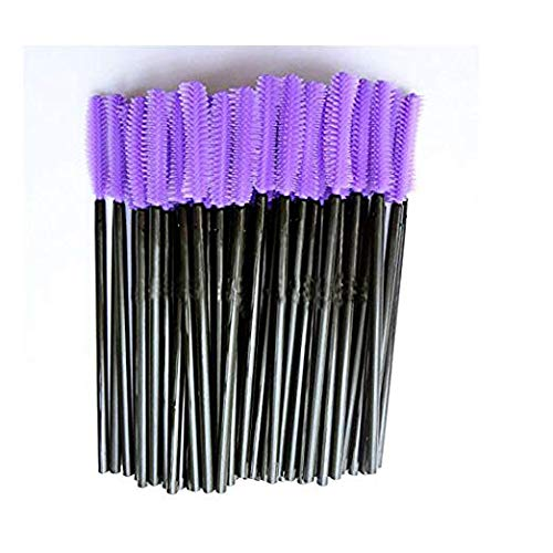 New8Beauty Silicone Mascara brushes - Curved Shaped (50-pack) NEWEIGHTS