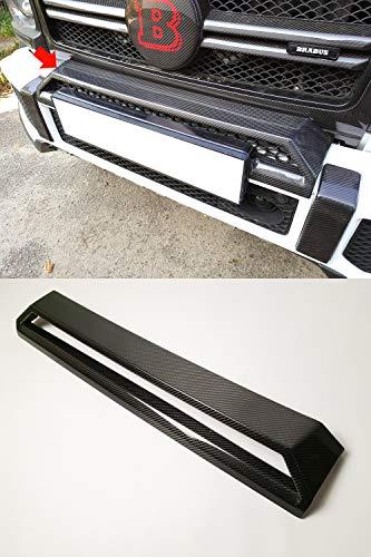kit-car Front Bumper Upper Scoop Trim – Carbon Fiber – for Mercedes-Benz G-Class W463 – Brabus Style ()