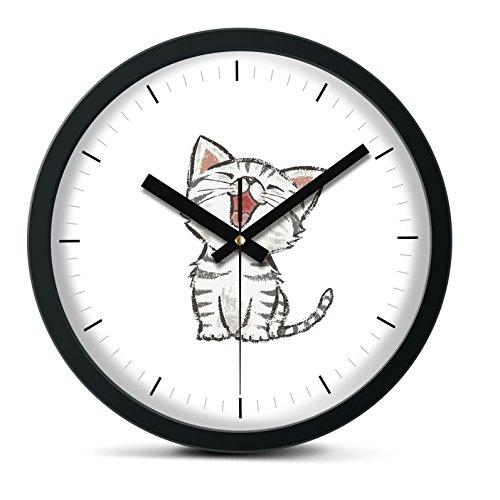Cat Metal Wall Clock (Time Roaming 10