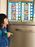 Magnetic Chore Chart for Kids - Dry Erase