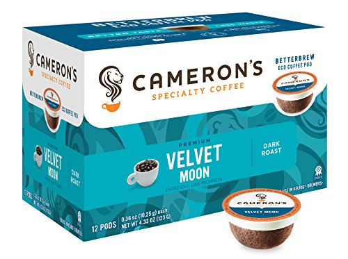 Cameron's Specialty Coffee, Velvet Moon Espresso Roast, 72 Count, Single Serve by Cameron's Coffee