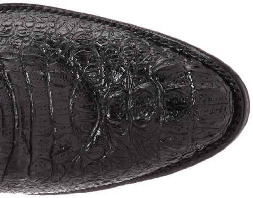 Ferrini Mens Print Krokodil R-toe Western Boot Svart