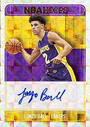 52fd8c8bd36 Amazon.com  2017-18 Panini NBA Hoops Rookie Autographs  RA-LBL Lonzo Ball  Certified Autograph Basketball Card  Collectibles   Fine Art