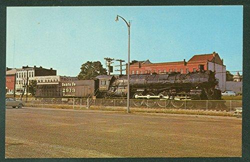 Black Steam Locomotive SANTA FE RAILWAY Fort Madison IOWA Railroad Postcard
